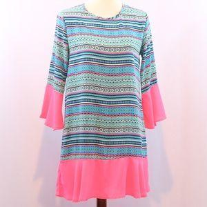 Filly Flair Bell Sleeve Peplum Tunic Dress